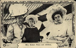 Mrs. Robert Peary and Children