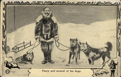 Peary and several of his dogs