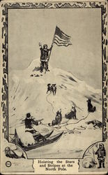 Hoisting the Stars and Stripes at the North Pole