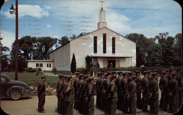 Formation Ready to Enter Chapel One at Sampson Air Force Base Geneva New York