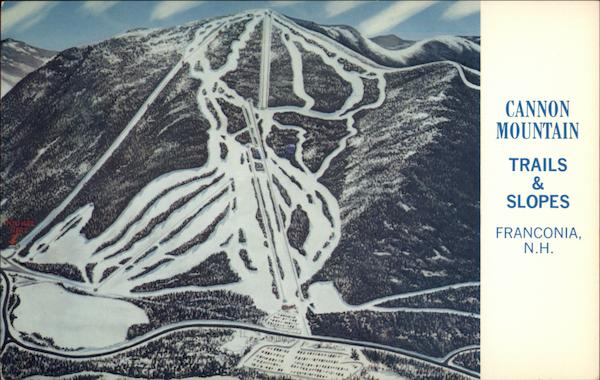 Cannon Mountain Ski Trails and Slopes Franconia New Hampshire