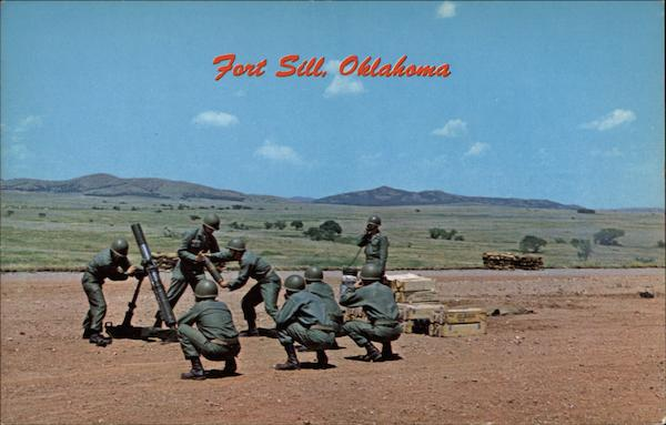 4.2 Mortar Being Fired on West Range Fort Sill Oklahoma