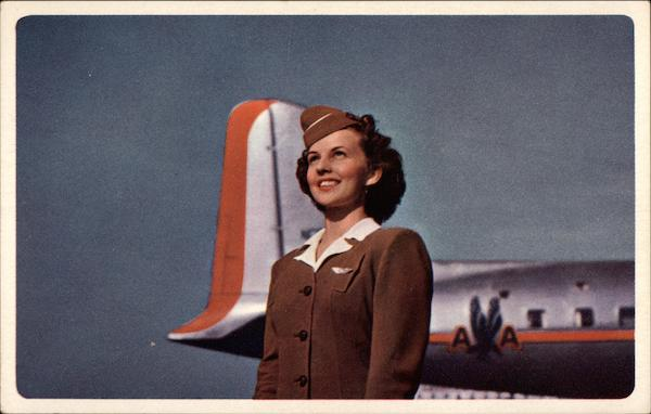 American Airlines Stewardess Aircraft