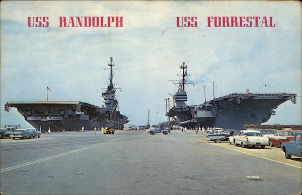 USS Randolph and USS Forrestal Norfolk Virginia