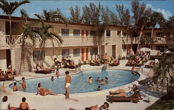 Swimming Pool Entrada Motel Hollywood Fl