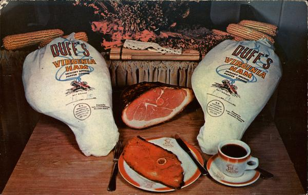 Duff's Virginia Hams Winchester Advertising