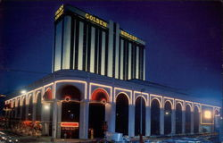 Twilight View of Golden Nugget Hotel-Casino Postcard