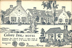Colony Inn Motel Postcard