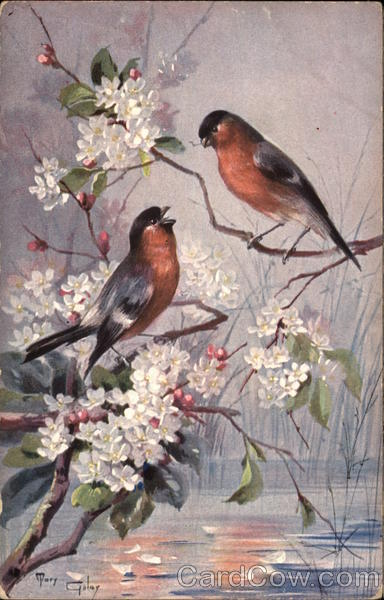 Two Birds in Flowering Branch Mary Golay