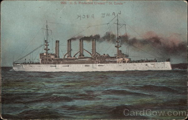 US Protected Cruiser St. Louis Military