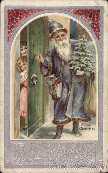 Santa Claus in Blue Robe
