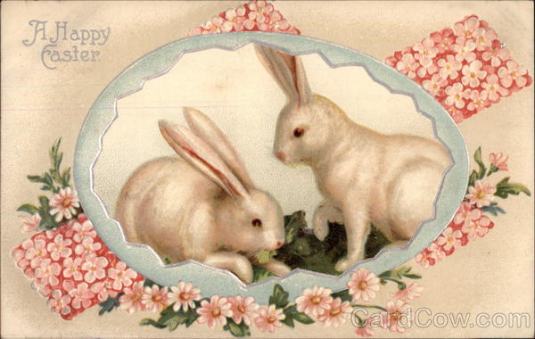 A Happy Easter - Rabbits With Bunnies
