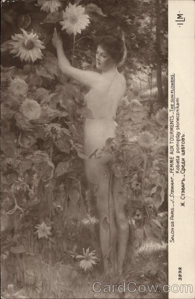 Femme Aux Tourments - The Sun Flowers Vintage Post Card