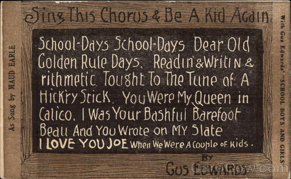 School Boys and Girls by Gus Edwards Music