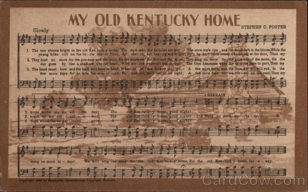 My old kentucky home songs lyrics for House house house house music song