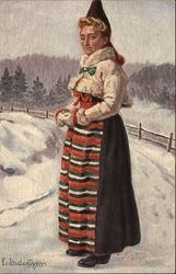 Nordic Woman in Traditional Dress