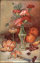 Still LIfe - Carnations and Oranges - by L.G. Reckling