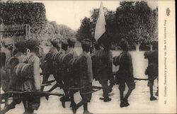 Indian Infantry Putting Up the Tri Colored Flag