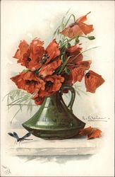 Red Poppies in Vase