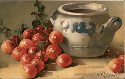 Still LIfe - Cherries and Pot