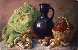 Still Life - Vegetables and Carafe