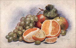 Still Life - Oranges and Grapes