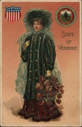 Girl Holding Fall Foliage - State of Vermont