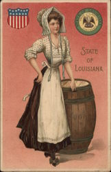 Girl with Barrel of Sugar - State of Louisiana