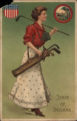 Girl with Golf Bag - State of Indiana
