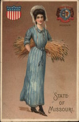 Girl Holding Sheaf of Wheat - State of Missouri