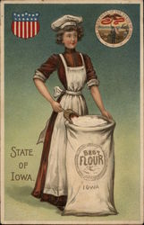 Girl with Sack of Flour - State of Iowa