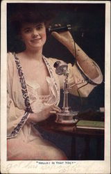 Smiling Woman on Telephone