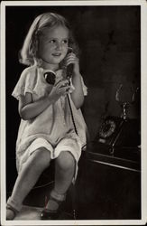Young Girl with Telephone