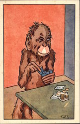 Monkey Playing Cards