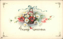 Hearty Greetings - Basket of Flowers