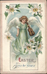 Easter Joys Be Yours - Angel with Violin