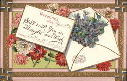 Greetings - Flowers and Letter