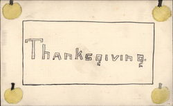 Hand Drawn Thanksgiving Postcard