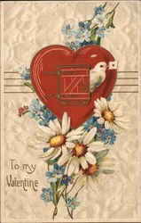 To My Valentine - Heart and Flowers