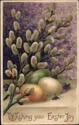 Wishing You Easter Joy - Eggs and Willow Branch