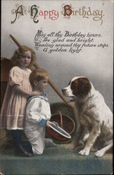 A Happy Birthday - Children and Dog