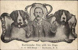 Rattlesnake Pete with his Dogs