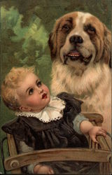 Baby and Saint Bernard