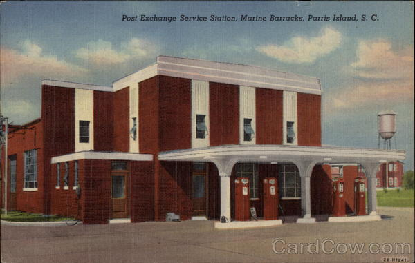 Post Exchange Station, Marine Barracks Parris Island South Carolina