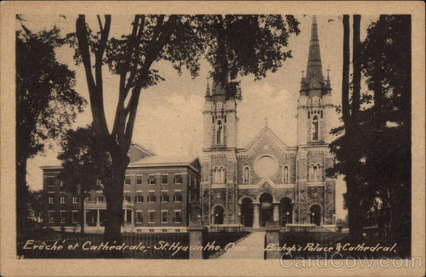 Bishop's Palace and Cathedral St. Hyacinthe Canada
