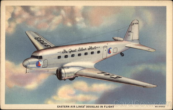 Eastern Air Lines' Douglas in Flight Aircraft