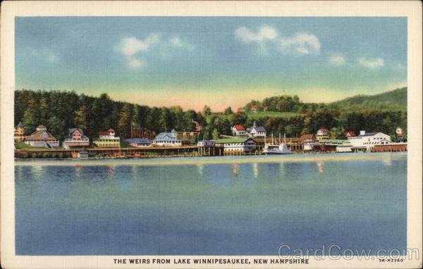 The Weirs from Lake Winnipesaukee Laconia New Hampshire