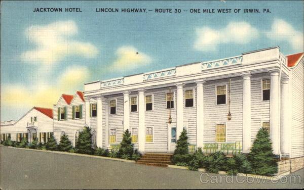 Jacktown Hotel Irwin Pennsylvania Original Sold
