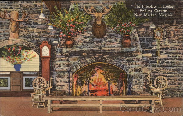 The Fireplace in Lodge Endless Caverns New Market Virginia