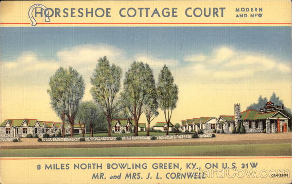 Horshoe Cottage Court Bowling Green Kentucky